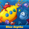 Blue depths. Find objects