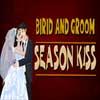 Bride and Groom Season Kiss