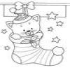 Coloring Christmas socks and boots -1