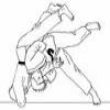 Coloring Combat sports -1 – Judo