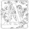 Coloring Fairies alphabet -1