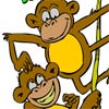 Coloring Jungle Monkeys