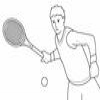 Coloring Racquet sports -1 Tennis