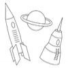 Coloring Space transportation -1