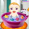 Cute Baby Girl Bath