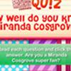 DM Quiz: Do you know Miranda Cosgrove?