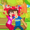 Funny Garden Kiss