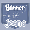 Glitter Jeans Star Pockets