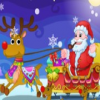 Happy Santa Claus and Reindeer