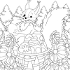Kid's coloring: Easter coloring