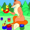 Kid's coloring: New forest artist