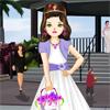 Little Flower Girl in the Wedding