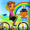 Mina on Bike