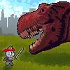 Ninja Cat and Zombie Dinosaurs