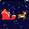 Santa's gift flight