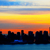 Sunset Over City Jigsaw Puzzle