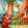 Timon and Pumba hidden alphabets