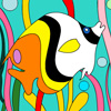 Tropical Fishes Coloring