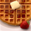 Waffle And strawberry Slider